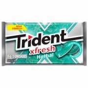 GOMA TRIDENT FRESH HERBAL COM 5 UNIDADES