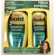 KIT NIELY GOLD CONDICIONADOR+SHAMPOO CACHOS