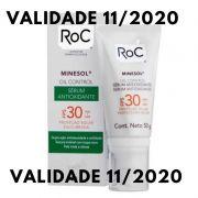 Protetor Solar ROC Minesol Oil Control Sérum Antioxidante FPS30 50g