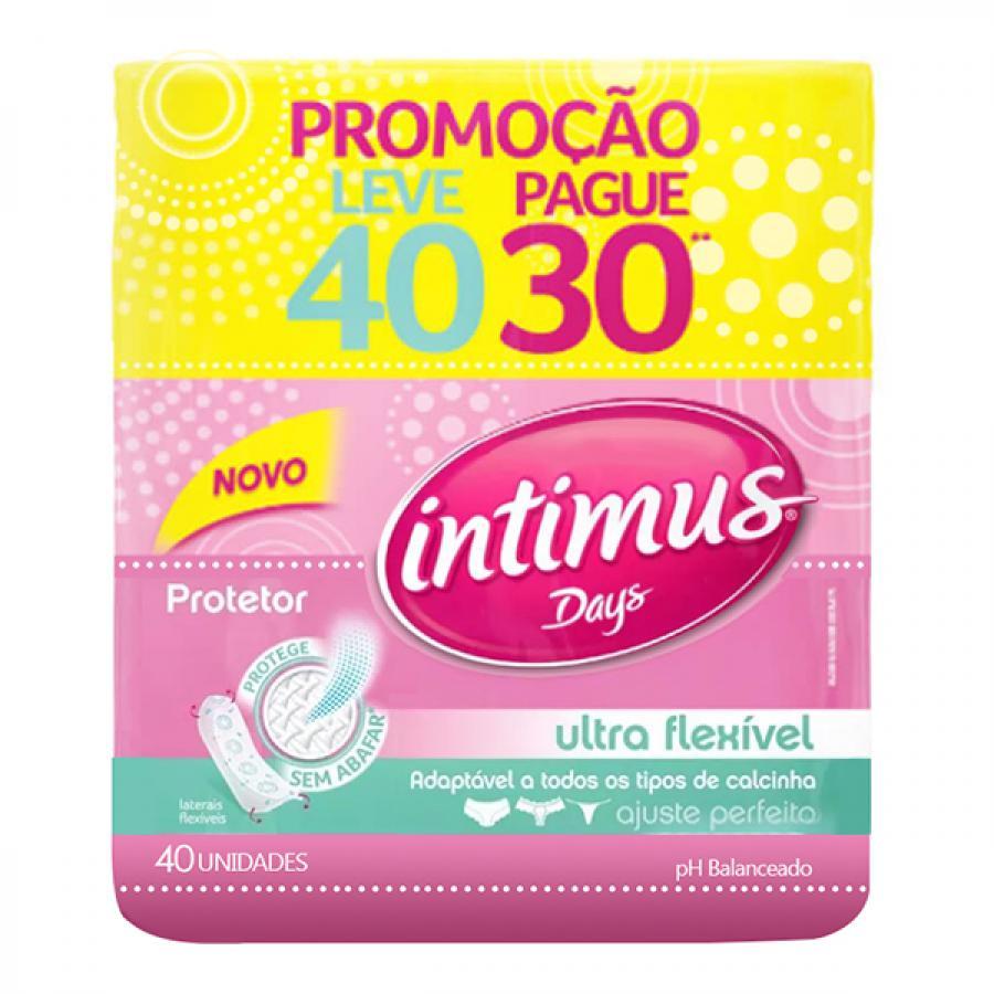 ABSORVENTE INTIMUS DAYS LEVE 40 PAGUE 30 ULTRA FINOSEM ABAS