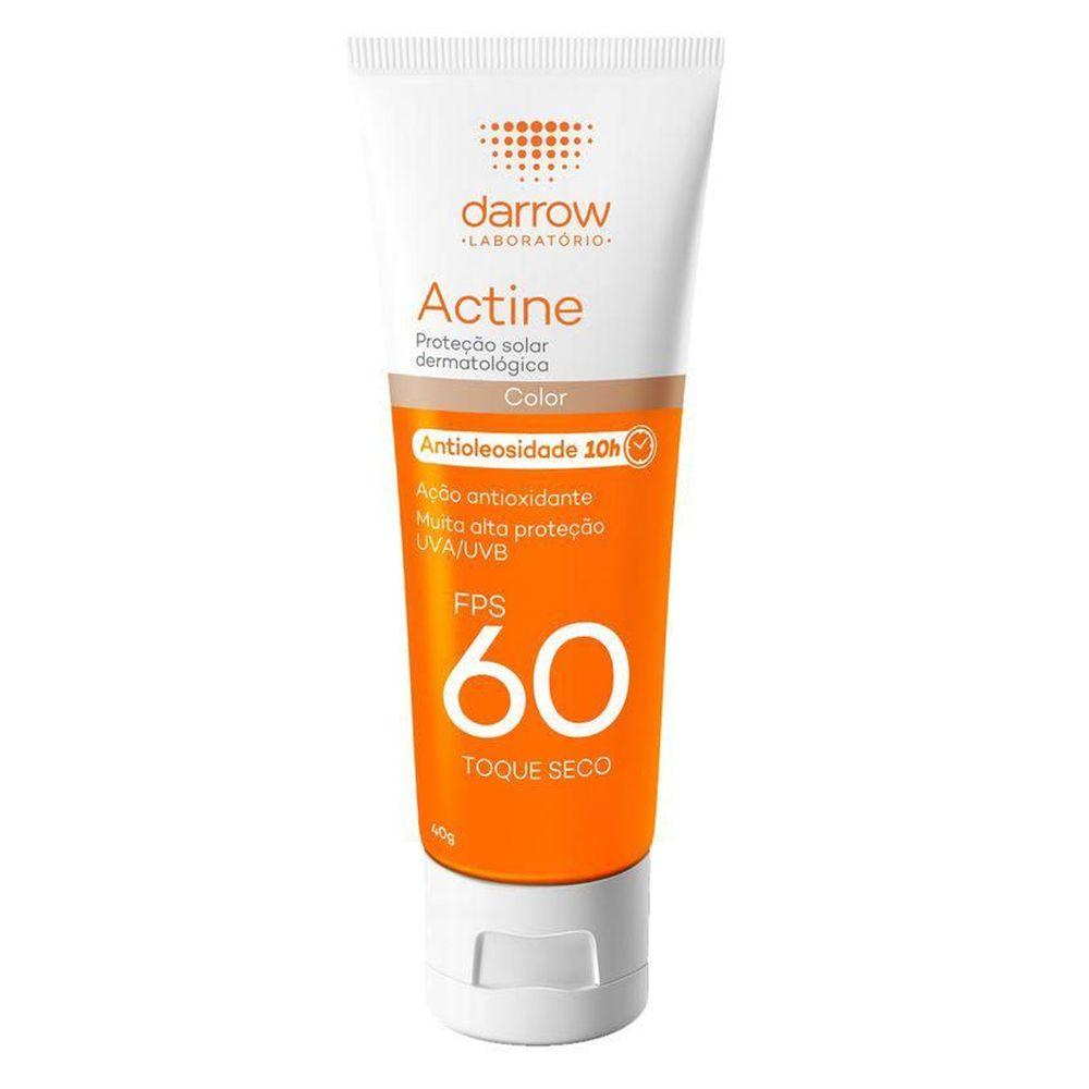 Actine Protetor Solar Antioleosidade com Cor FPS60 40g - Darrow