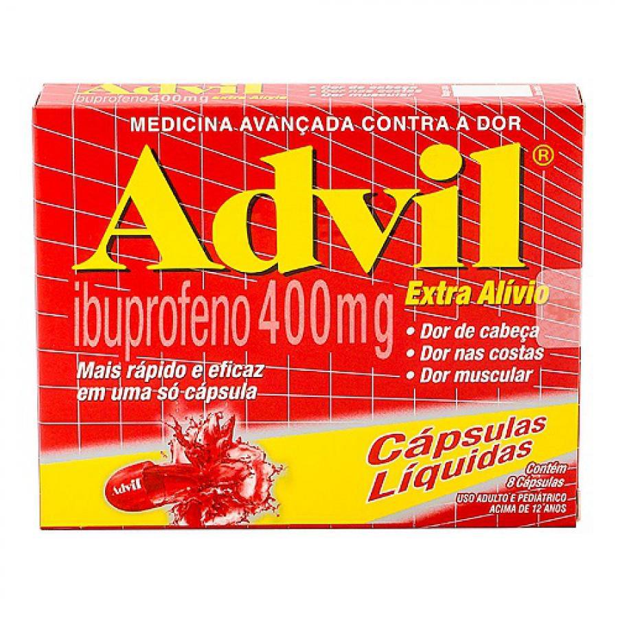 ADVIL EXTRA ALIVIVIO 400MG CAIXA C/8 CAPSULAS