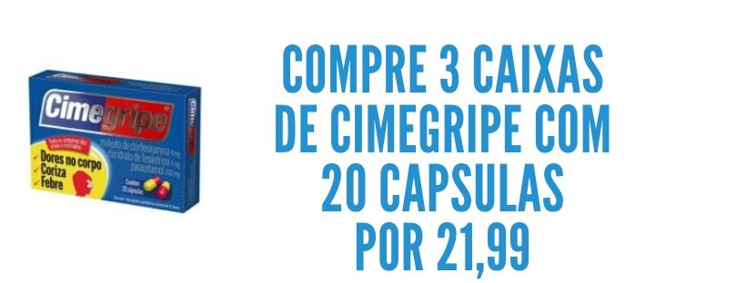 Cimegripe com 20 3x 21,99