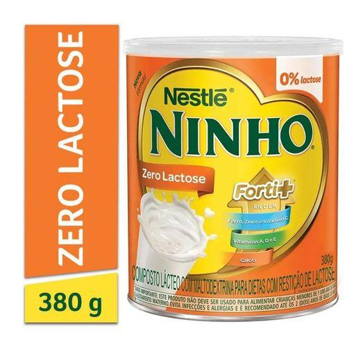 Composto Lácteo Em Pó Zero Lactose Ninho Forti+ Lata 380g