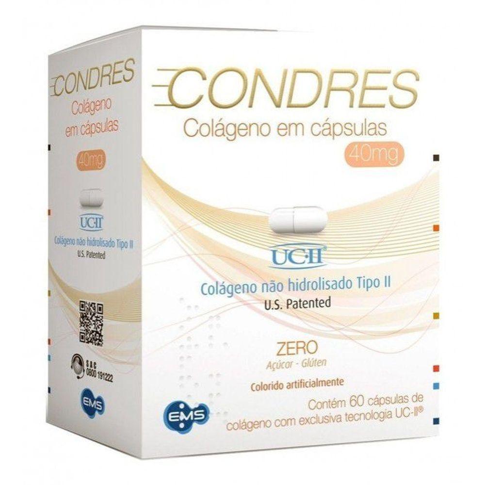 Condres 40mg com 60 capsulas - colágeno UC-II