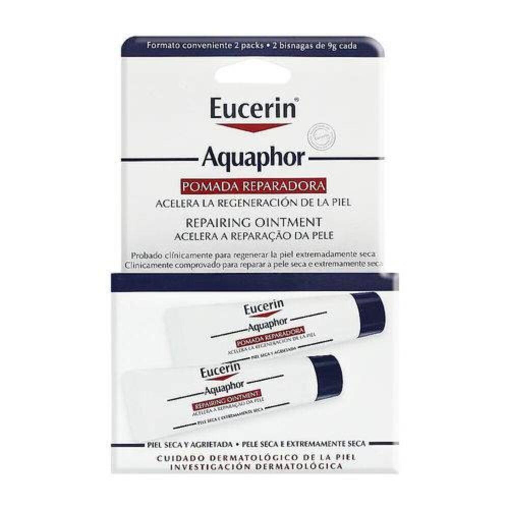 Eucerin Aquaphor Pomada Reparadora C/2 Bisnagas De 9g