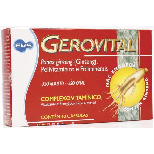 Gerovital Caixa com 60 capsulas