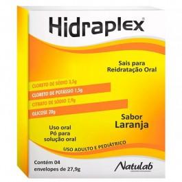 HIDRAPLEX SORO DE HIDRATAÇÃO ORAL PÓ COM 4 ENVELOPES SABOR LARANJA