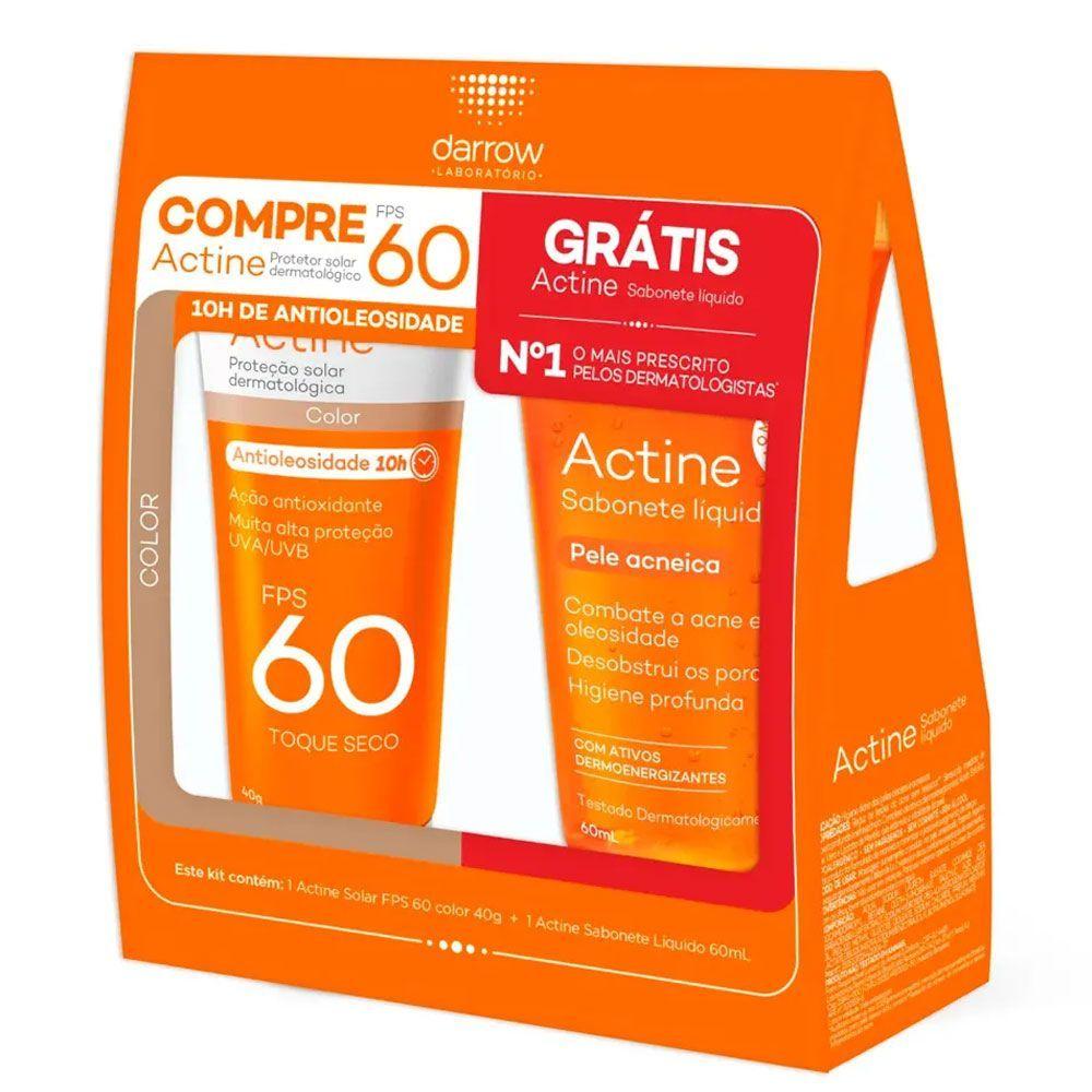 kit Protetor solar Actine color + Actine sabonete Liquido