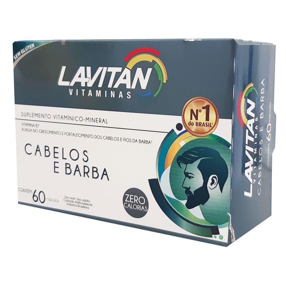 Lavitan Cabelos e Barba c/ 60 Cápsulas