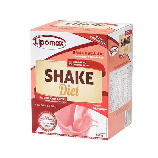 Lipomax Shake Diet Morango - 7 sachês com 40g