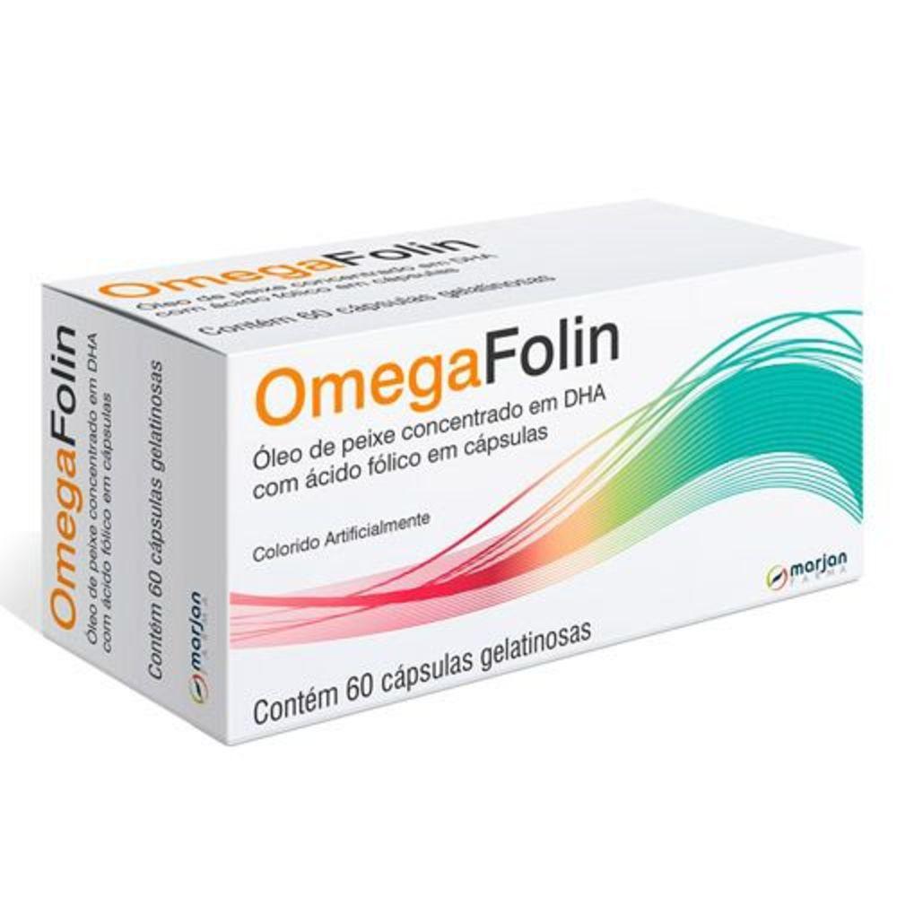 Óleo De Peixe Omegafolin Marjan 60 Cápsulas