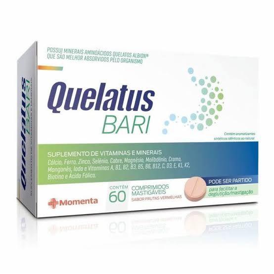 Quelatus Bari - 60 comprimidos mastigáveis