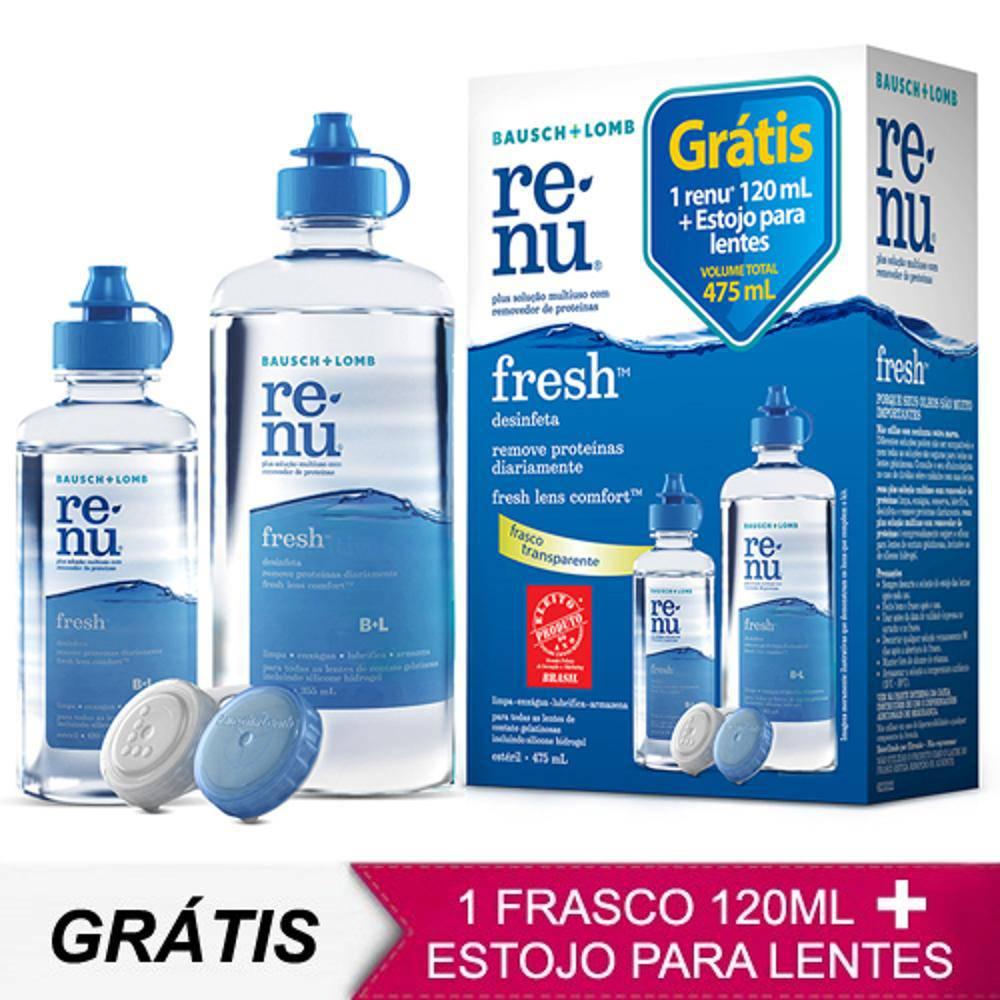 Renu Fresh 475ml - Para Limpeza De Lentes De Contato