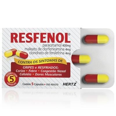 RESFENOL CARTELA COM  5'S CX C/ 48 CARTELAS
