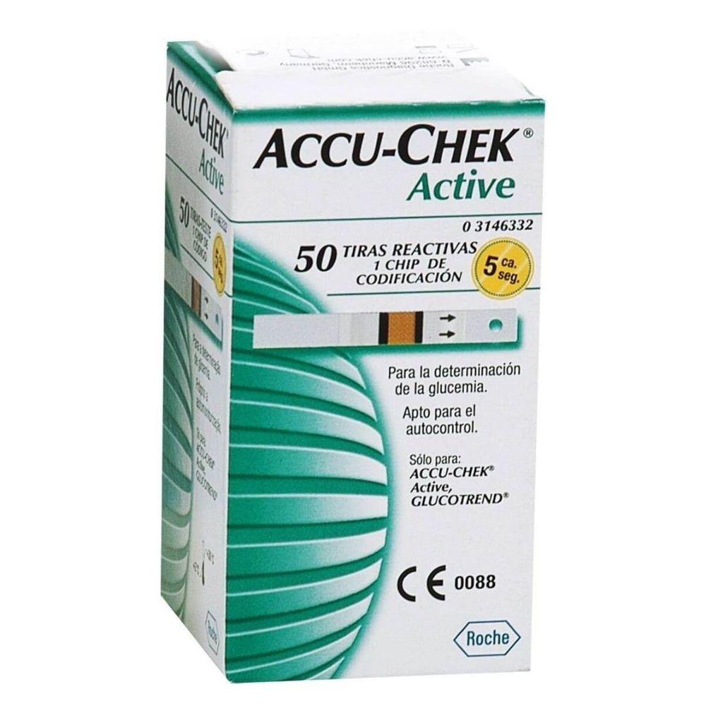 Tiras Accu check caixa com 50 unidades