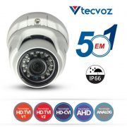 Câmera Tecvoz Dome Flex HD QDM-1028 Alta Definição (1.0MP | 720p | 2.8mm | Metal)