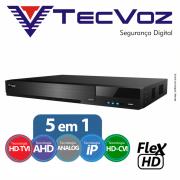 DVR Tecvoz 08 Canais Flex HD Alta Resolução TW-E308.