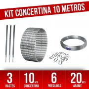Kit completo Concertina Helicoidal 45cm - para 10 Metros