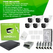 Kit TWG Completo - 6 Câmeras