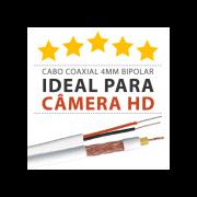 Super Cabo Coaxial para Câmeras HD 4mm Bipolar Reforçado Telecam - 100 Metros