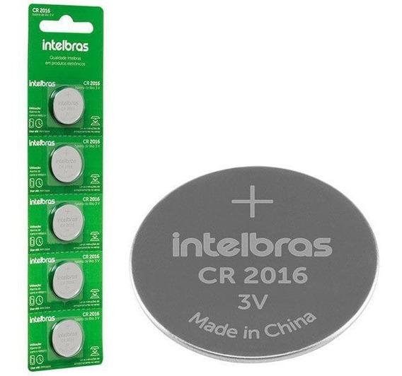 Bateria 3v INTELBRAS CR2016 - Cartela c/ 5 Unidades