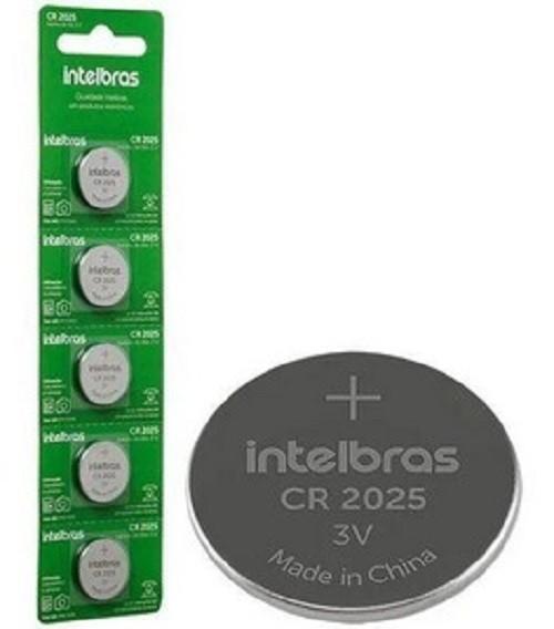 Bateria 3v INTELBRAS CR2025 - Cartela c/ 5 Unidades