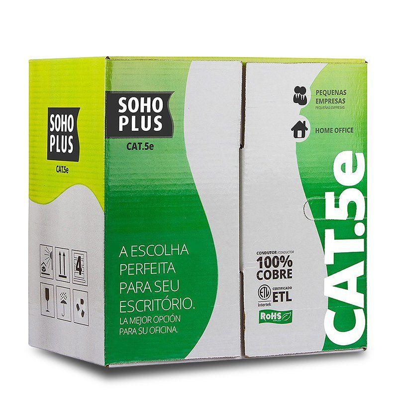 Cabo de Rede Cat5e Furukawa Soho Plus - Caixa 305 Metros.