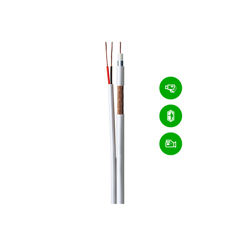 Cabo master coaxial flex celular 4mm bipolar 75% malha cobre - 100m - conducopper