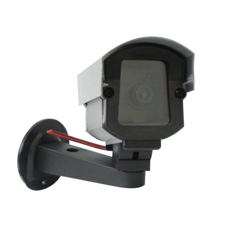 Câmera Falsa SECURITY PARTS - Bullet c/ Led Bivolt Prata