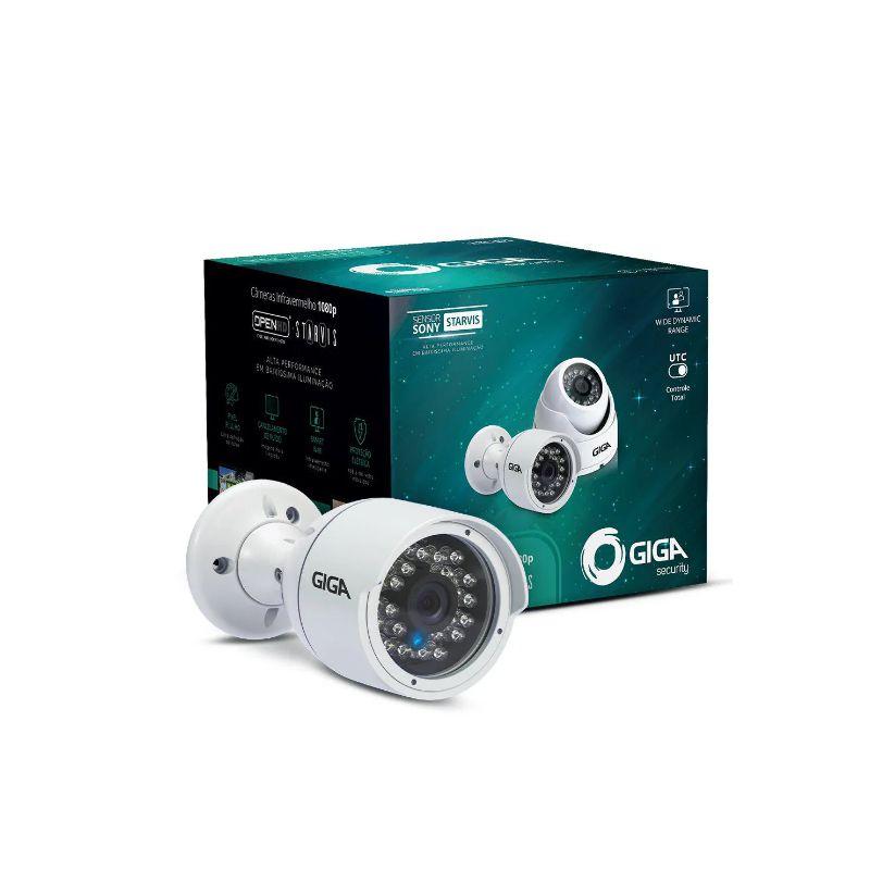 Câmera Giga Security GS0055 Bullet Open HD Sony Super Starvis (2.0MP | 1080p | 3.6mm | Plástico)