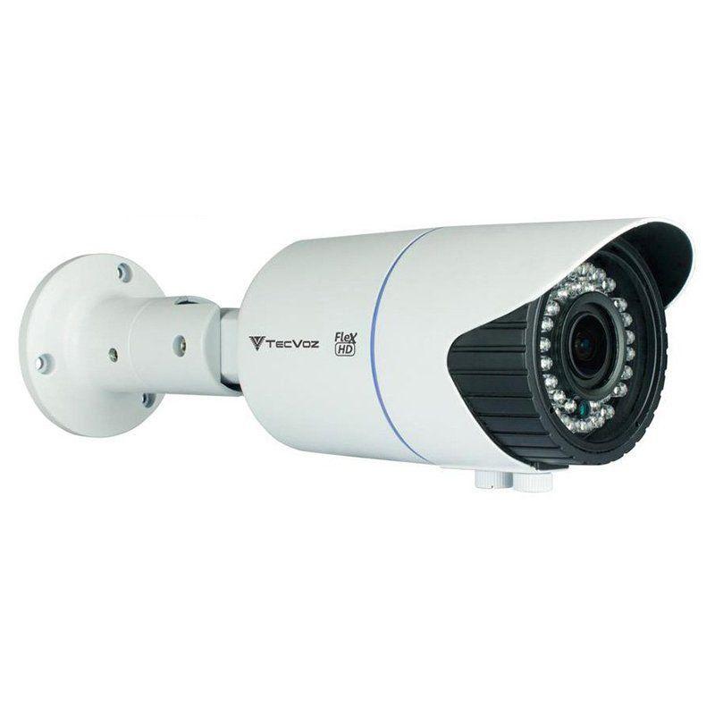 Câmera Tecvoz Varifocal com Zoom Flex HD QCB-20v Full HD (2.0MP | 1080p | 2.8mm~12mm | Metal)