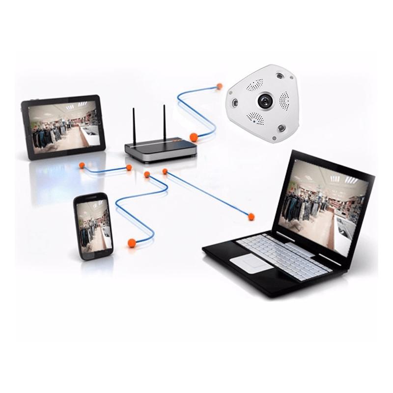 Câmera VRCAM IP Panorâmica Alta Definição (1.3MP | 960p | 360º | Plast)
