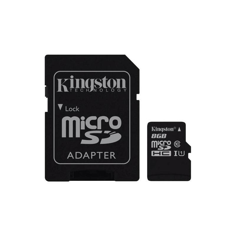 Cartão de Memoria Micro SD 8GB Kingston.