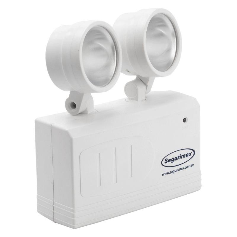 Iluminação De Emergência SEGURIMAX Led 200 Lumens Com 2 Faróis