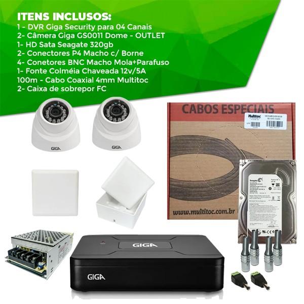 Kit Giga Security Completo - 2 Câmeras OUTLET