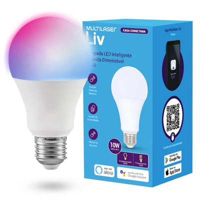 Automação Inteligente MULTILASER LIV - SE224 Lâmpada LED Colorida Wifi
