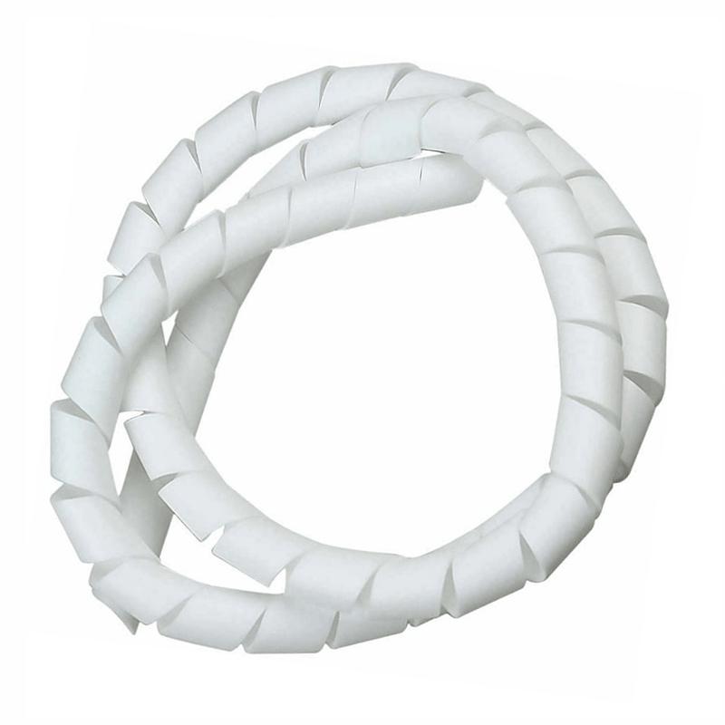 Organizador de Fios e Cabos Espiral de 10 Metros - 10mm - Branco