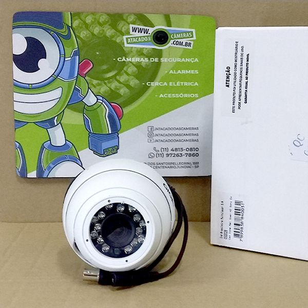OUTLET - Câmera Giga GS0028 Dome Open HD Sony Exmor IR 30M UTC DWDR IP66 (2.0MP | 1080p | 3.6mm | Metal)