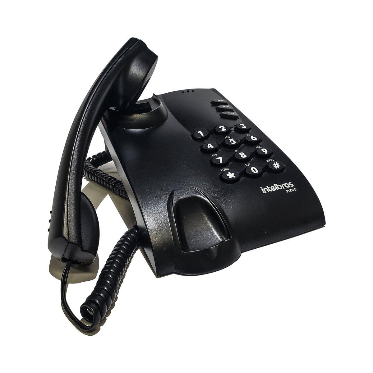 Telefone c/ Fio Intelbras Pleno Preto.