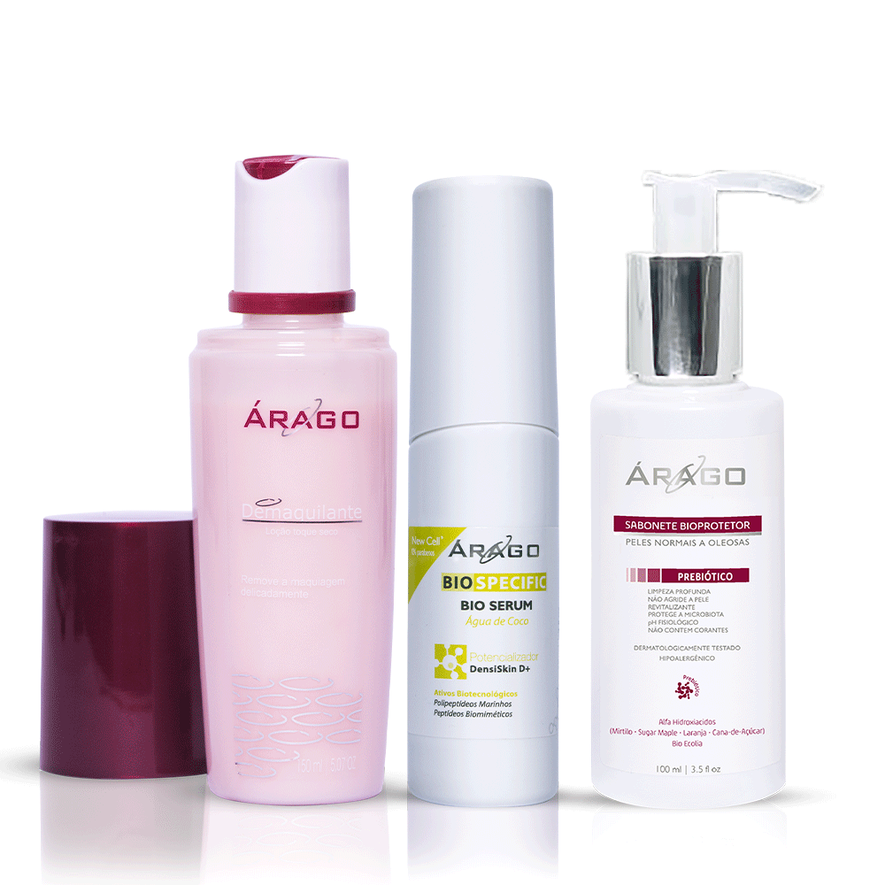 Combo BIOSpecific, Demaquilante e Sabonete Bioprotetor - Árago