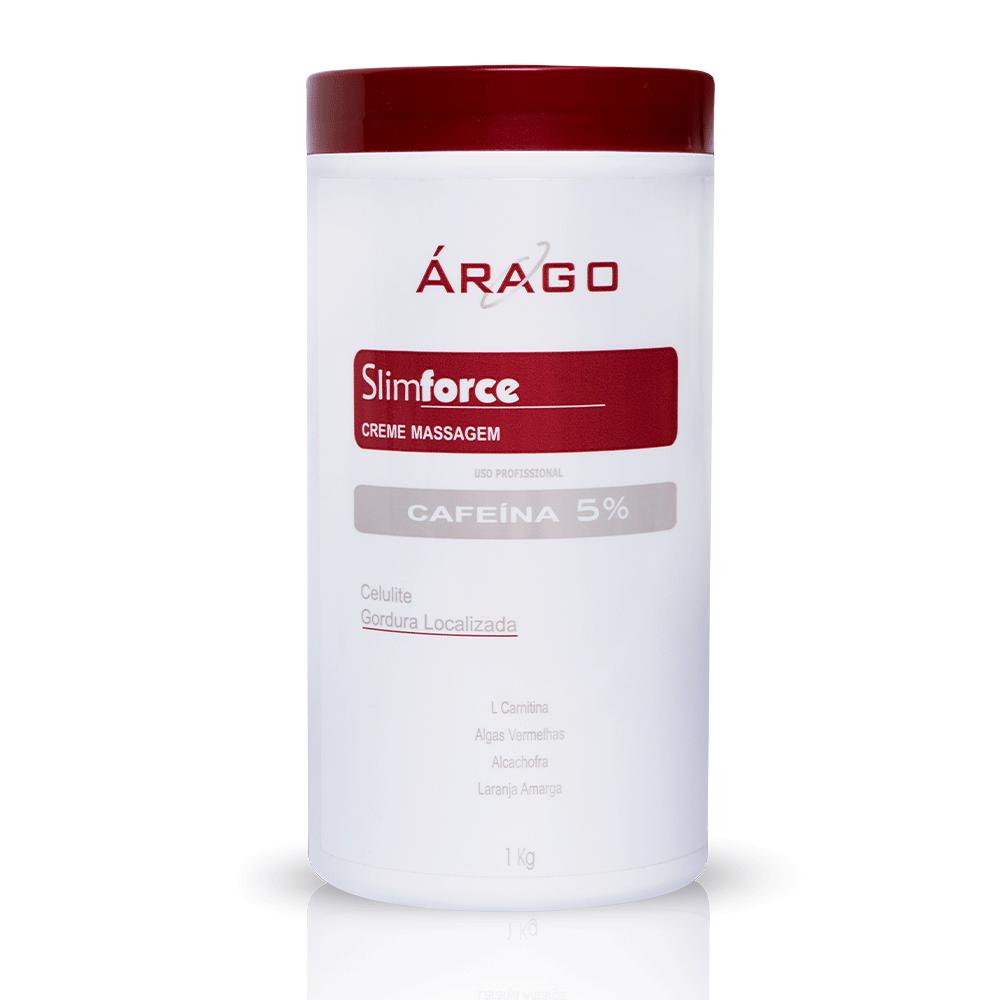 SlimForce Creme Massagem Cafeína 5% 1kg