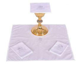 Conjunto Paños de Altar Algodón Pez y Pan B009