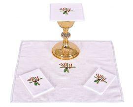 Conjunto de Altar Lino Trigo Cruz y Uva B007