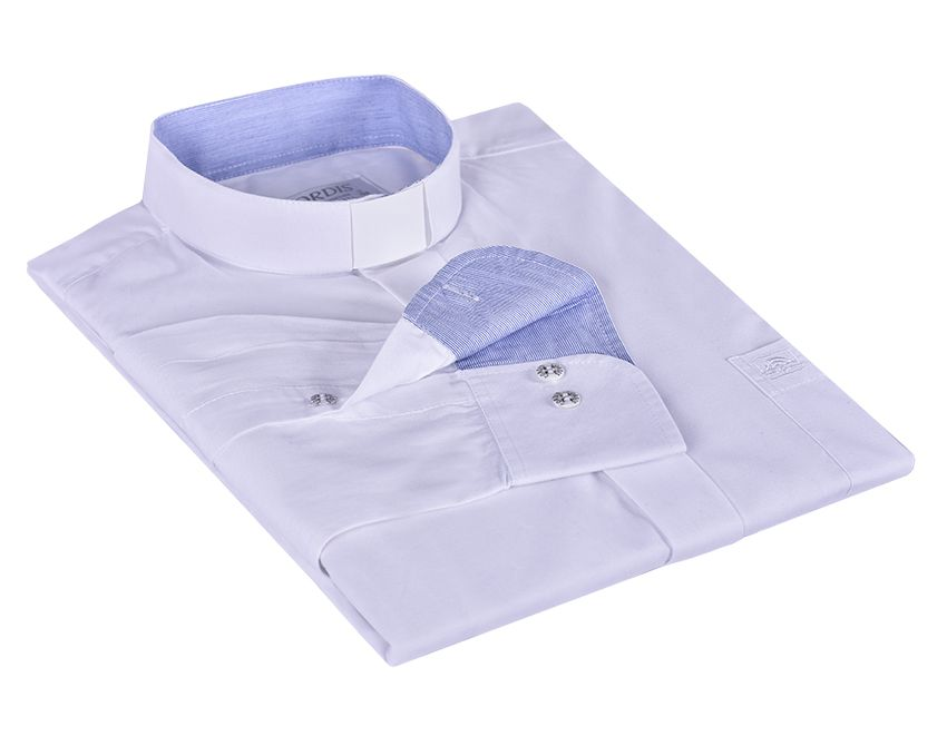 Camisa Clerical Tradicional Manga Larga con detalle