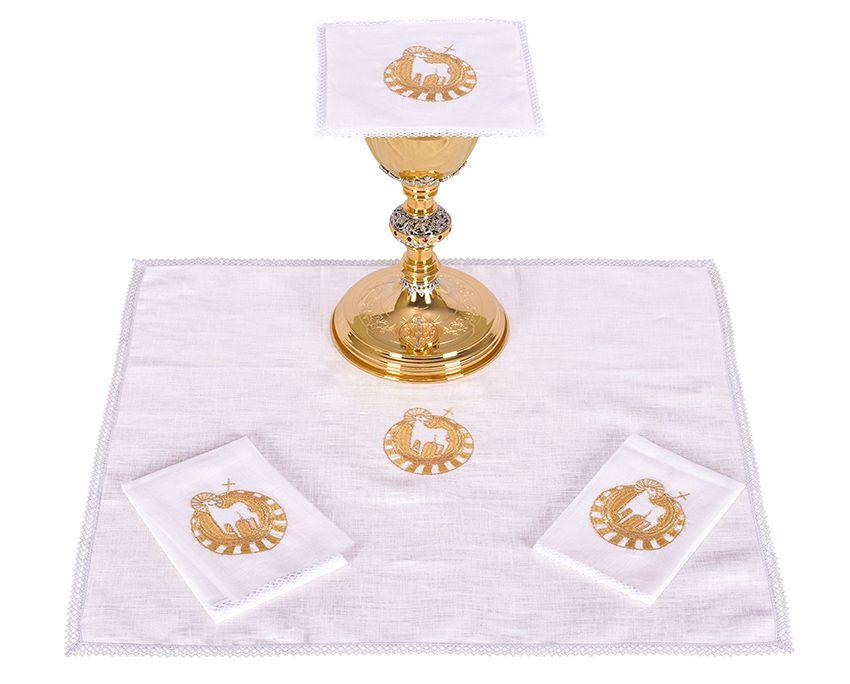 Conjunto Paños de Altar Lino Cordero B014