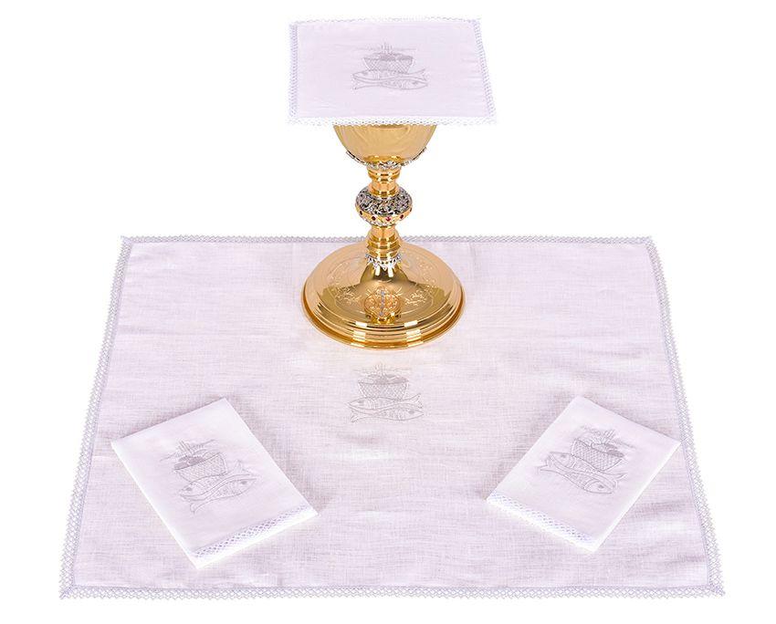 Conjunto de Altar Lino Pez y Pan B009