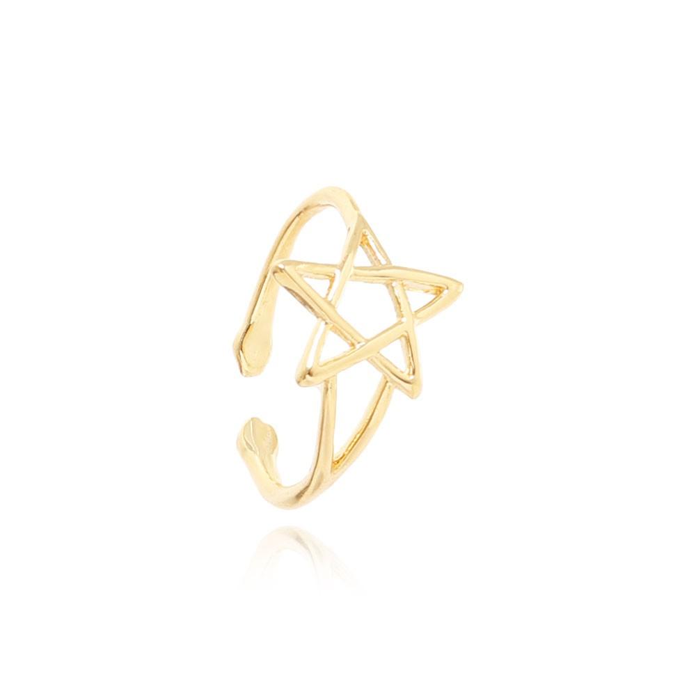 Anel  Folheado Ouro 18K  Falange Estrela