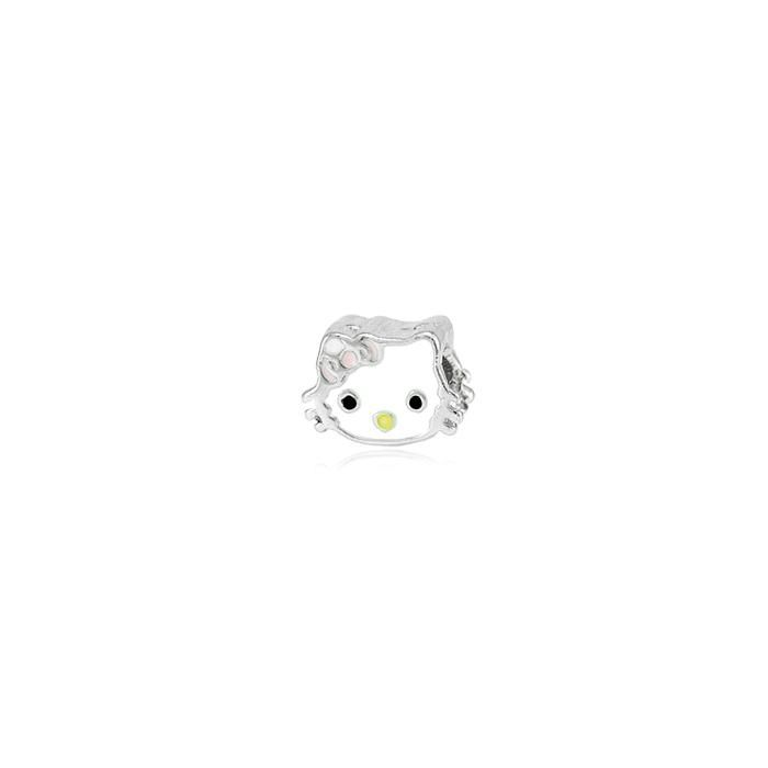 Berloque Folheado Ródio de Passar Hello Kitty Resi