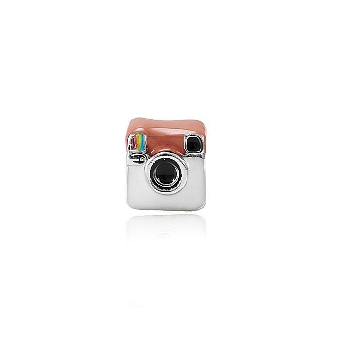 Berloque Instagram Folheado Ródio